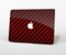 "The Glossy Red Carbon Fiber Skin Set for the Apple MacBook Pro 15"" with Retina Display"