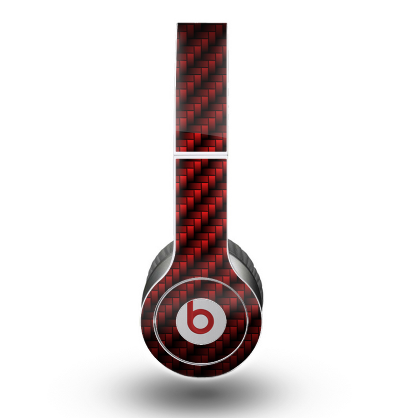 The Glossy Red Carbon Fiber Skin for the Beats by Dre Original Solo-Solo HD Headphones