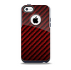 The Glossy Red Carbon Fiber Skin for the iPhone 5c OtterBox Commuter Case