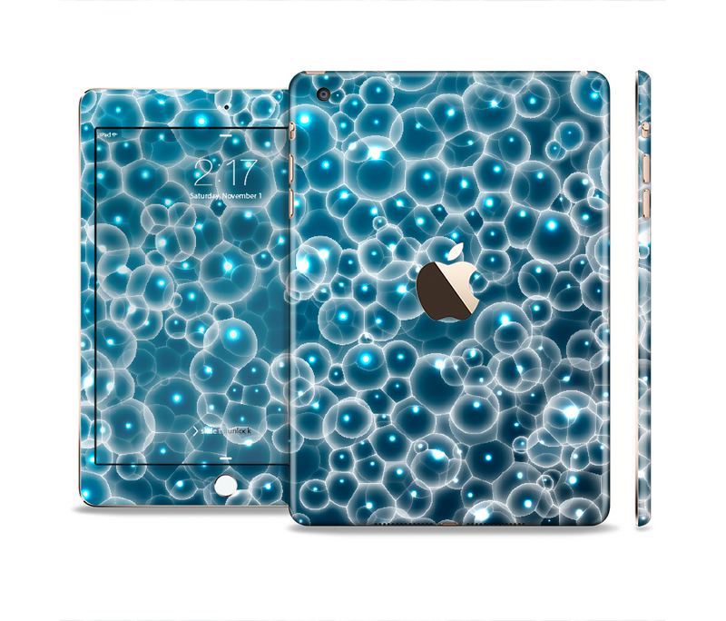The Glowing Blue Cells Full Body Skin Set for the Apple iPad Mini 3