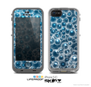The Glowing Blue Cells Skin for the Apple iPhone 5c LifeProof Case