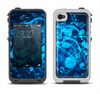 The Glowing Blue Music Notes Apple iPhone 4-4s LifeProof Fre Case Skin Set