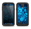 The Glowing Blue Music Notes Samsung Galaxy S4 LifeProof Fre Case Skin Set