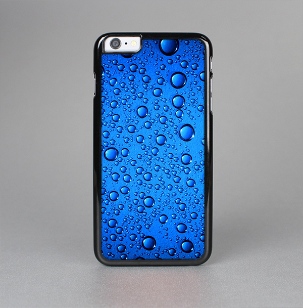 The Glowing Blue Vivid RainDrops Skin-Sert Case for the Apple iPhone 6 Plus