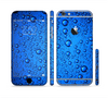 The Glowing Blue Vivid RainDrops Sectioned Skin Series for the Apple iPhone 6s Plus