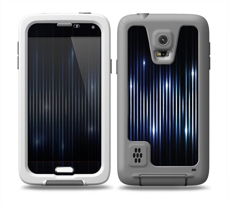 The Glowing Blue WaveLengths Skin for the Samsung Galaxy S5 frē LifeProof Case