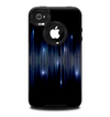The Glowing Blue WaveLengths Skin for the iPhone 4-4s OtterBox Commuter Case