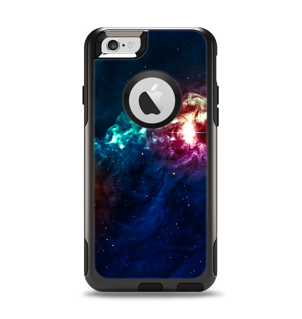 The Glowing Colorful Space Scene Apple iPhone 6 Otterbox Commuter Case Skin Set