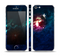 The Glowing Colorful Space Scene Skin Set for the Apple iPhone 5