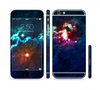 The Glowing Colorful Space Scene Sectioned Skin Series for the Apple iPhone 6 Plus