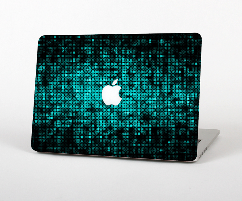 "The Glowing Digital Green Dots Skin Set for the Apple MacBook Pro 15"" with Retina Display"