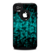 The Glowing Digital Green Dots Skin for the iPhone 4-4s OtterBox Commuter Case