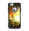 The Glowing Gold & Black Nebula Apple iPhone 6 Otterbox Commuter Case Skin Set