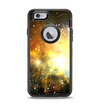 The Glowing Gold & Black Nebula Apple iPhone 6 Otterbox Defender Case Skin Set