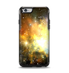 The Glowing Gold & Black Nebula Apple iPhone 6 Otterbox Symmetry Case Skin Set