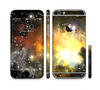 The Glowing Gold & Black Nebula Sectioned Skin Series for the Apple iPhone 6 Plus
