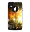 The Glowing Gold & Black Nebula Skin for the iPhone 4-4s OtterBox Commuter Case