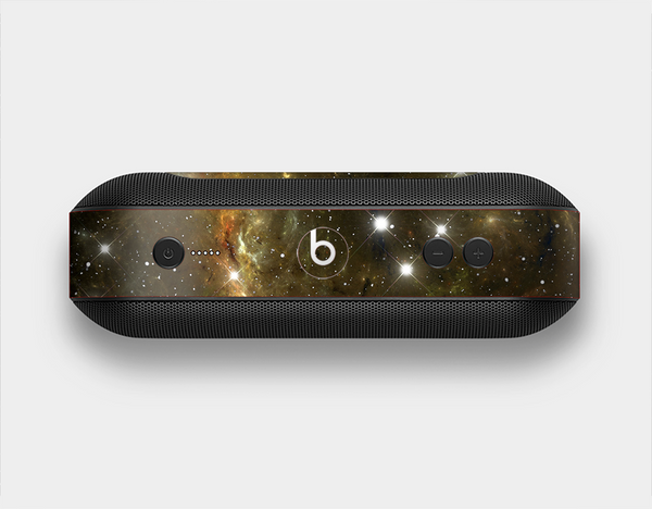 The Glowing Gold Universe Skin Set for the Beats Pill Plus