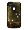 The Glowing Gold Universe Skin for the iPhone 4-4s OtterBox Commuter Case