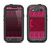 The Glowing Green & Pink Ethnic Aztec Pattern Samsung Galaxy S4 LifeProof Nuud Case Skin Set