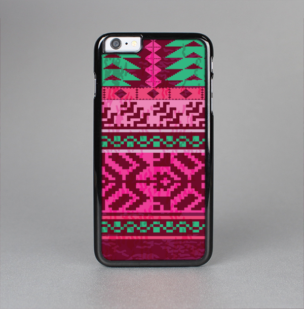 The Glowing Green & Pink Ethnic Aztec Pattern Skin-Sert Case for the Apple iPhone 6 Plus