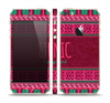 The Glowing Green & Pink Ethnic Aztec Pattern Skin Set for the Apple iPhone 5s