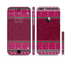 The Glowing Green & Pink Ethnic Aztec Pattern Sectioned Skin Series for the Apple iPhone 6