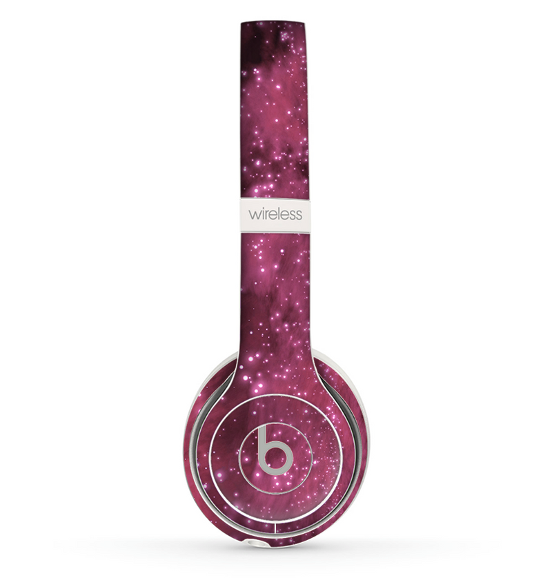 The Glowing Hot Pink V3 Orbs of Light Skin Set for the Beats by Dre Solo 2 Wireless Headphones