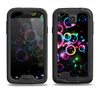 The Glowing Neon Bubbles Samsung Galaxy S4 LifeProof Fre Case Skin Set