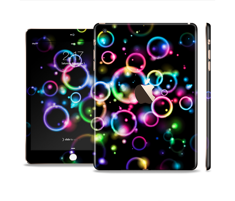 The Glowing Neon Bubbles Full Body Skin Set for the Apple iPad Mini 3