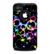 The Glowing Neon Bubbles Skin for the iPhone 4-4s OtterBox Commuter Case