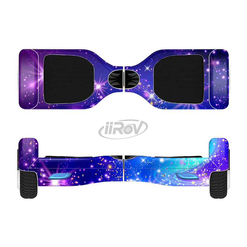 The Glowing Pink /& Blue Starry Orbit Full-Body Skin Set for the Smart Drifting SuperCharged iiRov HoverBoard