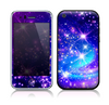 The Glowing Pink & Blue Starry Orbit Skin for the Apple iPhone 3-3gs