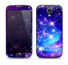 The Glowing Pink & Blue Starry Orbit Skin For The Samsung Galaxy S4
