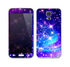 The Glowing Pink & Blue Starry Orbit Skin For the Samsung Galaxy S5