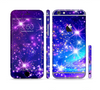 The Glowing Pink & Blue Starry Orbit Sectioned Skin Series for the Apple iPhone 6 Plus