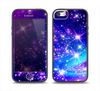 The Glowing Pink & Blue Starry Orbit Skin Set for the iPhone 5-5s Skech Glow Case