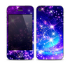 The Glowing Pink & Blue Starry Orbit Skin for the Apple iPhone 4-4s