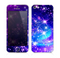 The Glowing Pink & Blue Starry Orbit Skin for the Apple iPhone 5