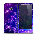 The Glowing Pink & Blue Starry Orbit Skin for the HTC One