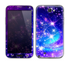 The Glowing Pink & Blue Starry Orbit Skin for the Samsung Galaxy Note 2