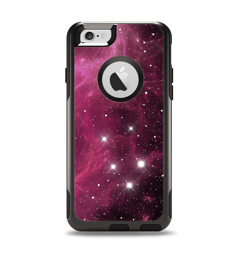 The Glowing Pink Nebula Apple iPhone 6 Otterbox Commuter Case Skin Set