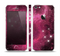 The Glowing Pink Nebula Skin Set for the Apple iPhone 5