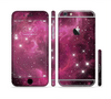 The Glowing Pink Nebula Sectioned Skin Series for the Apple iPhone 6 Plus