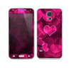 The Glowing Pink Outlined Hearts Skin For the Samsung Galaxy S5