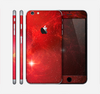 The Glowing Red Space Skin for the Apple iPhone 6 Plus