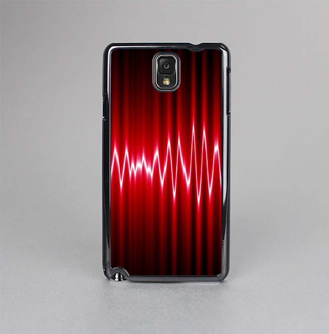 The Glowing Red Wiggly Line Skin-Sert Case for the Samsung Galaxy Note 3