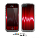 The Glowing Red Wiggly Line Skin for the Apple iPhone 5c LifeProof Case