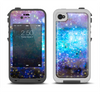 The Glowing Space Texture Apple iPhone 4-4s LifeProof Fre Case Skin Set
