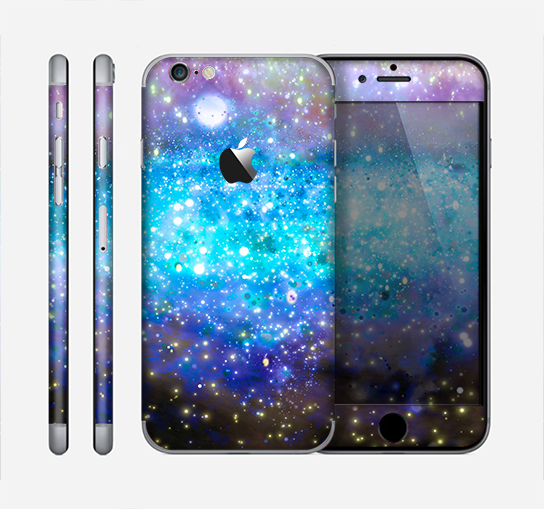 The Glowing Space Texture Skin for the Apple iPhone 6